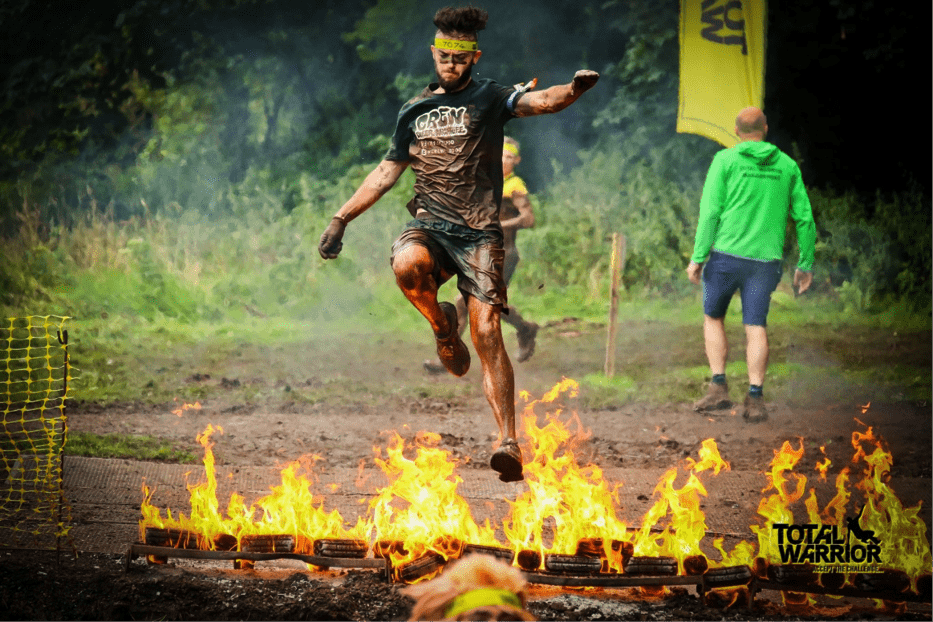 Crew Total Warrior firewalk fundraising