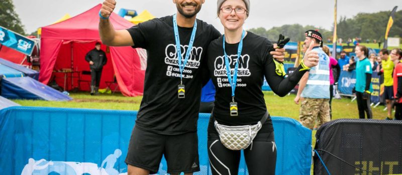 Our CEO and one of our Volunteers at Rough Runner