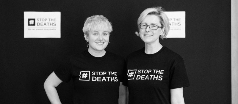 Kira and Emma at Stop the Deaths event
